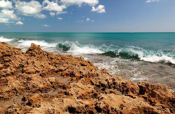 Blowing Rocks Jupiter Island Florida Print by Michelle Wiarda