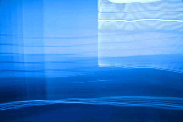 Blue Abstract 1 Print by Mark Weaver