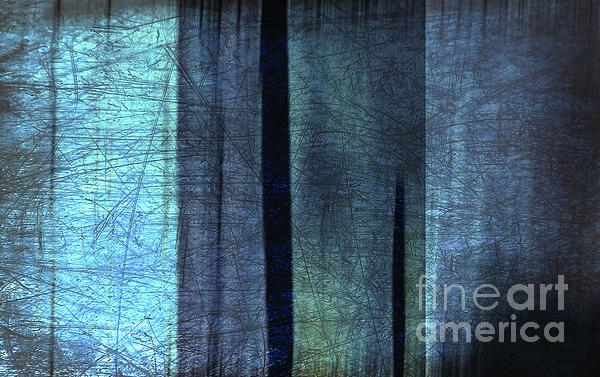 Blue Abstract Print by Iris Lehnhardt