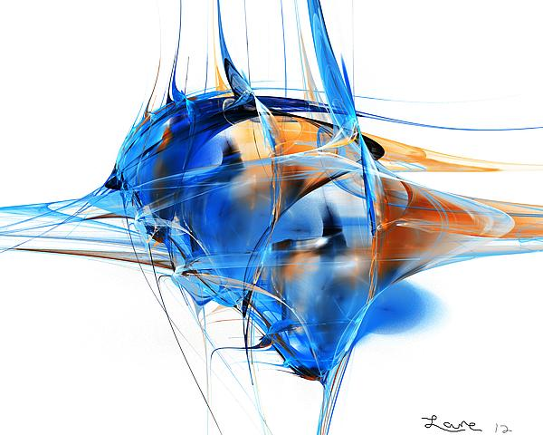 Blue Abstraction Digital Art