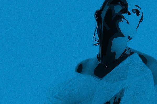 Blue Bride Print by Naxart Studio