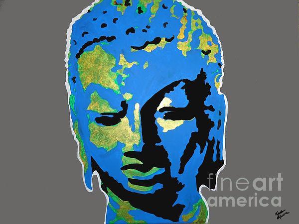 Blue Buddha  Print by Nickie Mantlo