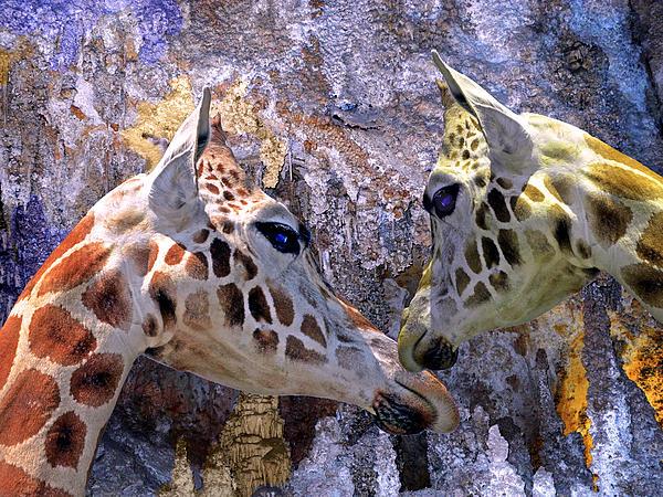Lynda Lehmann - Blue Cave Giraffes