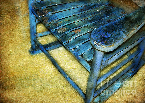 Blue Chair Print by Judi Bagwell
