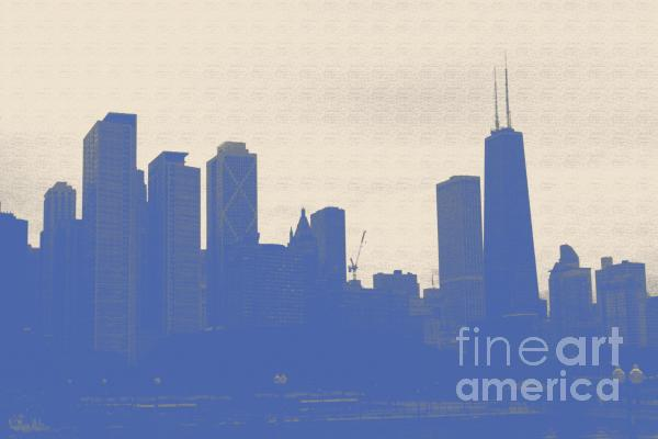 Blue Chicago Photograph  - Blue Chicago Fine Art Print