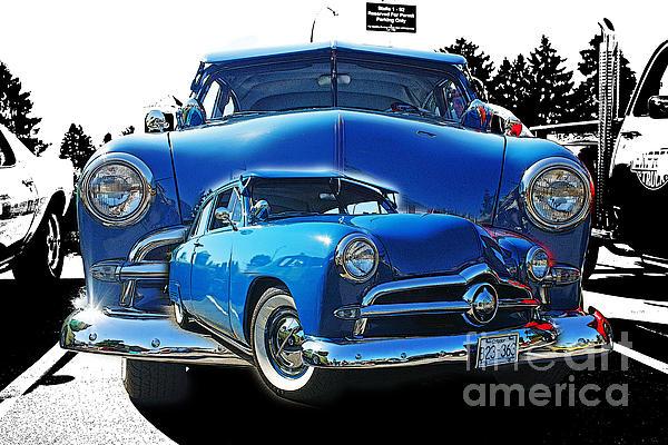 Blue Classic Dbl.hdr Print by Randy Harris
