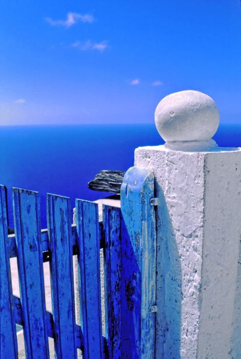 Blue Gate Print by Silvia Ganora