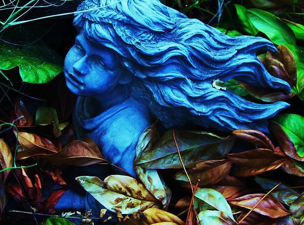 Blue Girl Print by Todd Sherlock