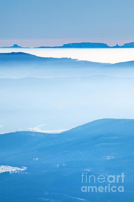 Blue Haze Print by Evgeni Dinev