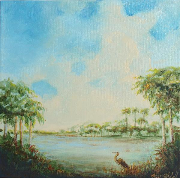 Blue Heron Pointe Print by Michele Hollister - for Nancy Asbell