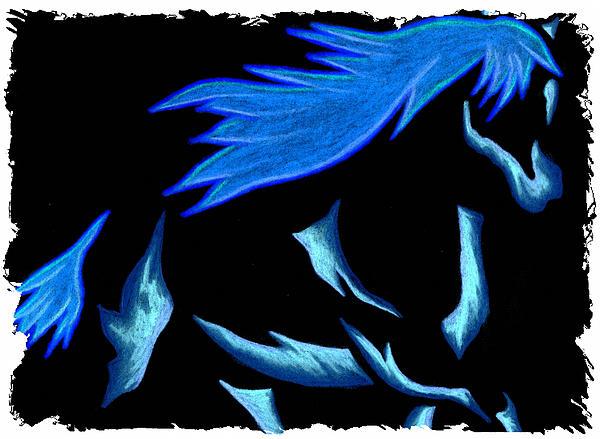 Blue Ice Flows Over Adobe Dance Print by Mark Schutter