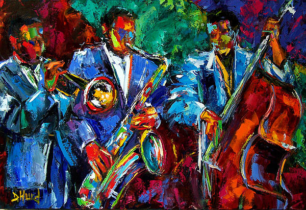 Blue Jazz Print by Debra Hurd