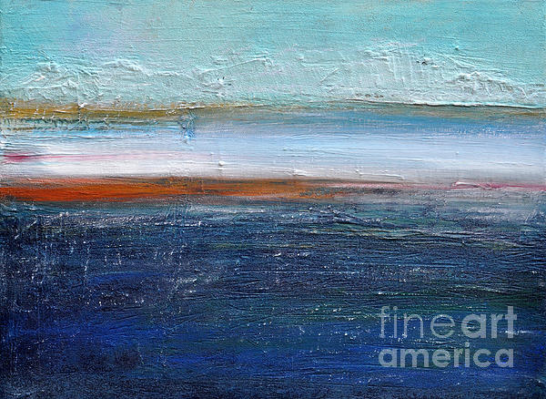 Blue Landscape Print by Iris Lehnhardt