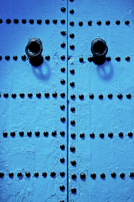 Blue Moroccan Door Print by Kelly Cheng Travel Photography