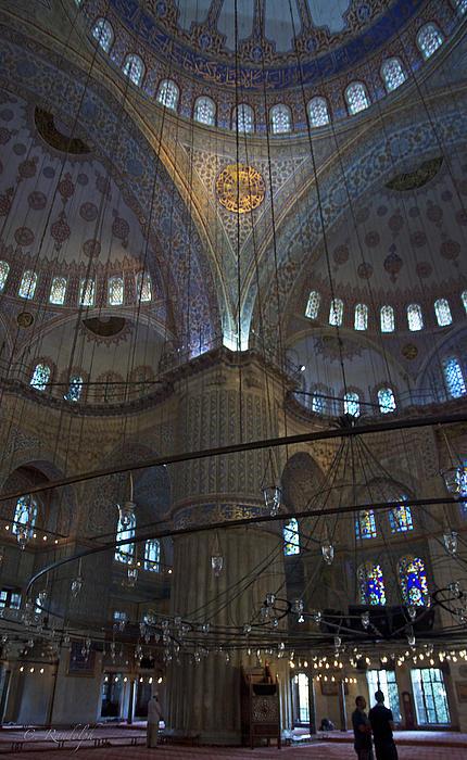 Blue Mosque Interior Print by Cheri Randolph