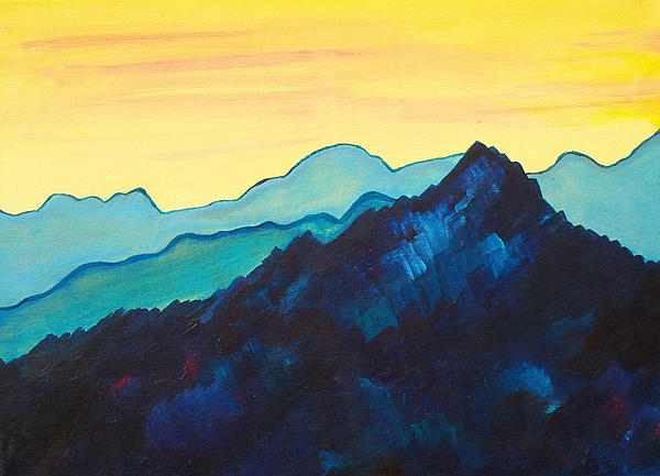 Blue Mountain II Print by Silvie Kendall