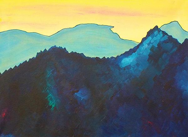 Blue Mountain Print by Silvie Kendall