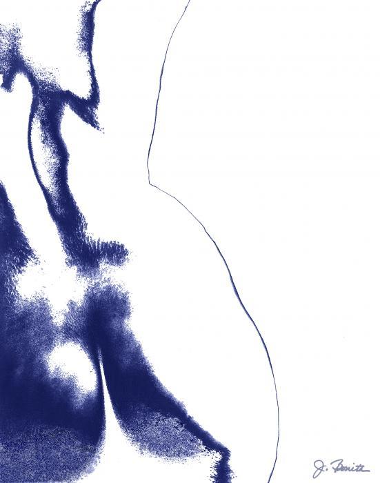 Blue Nude No. 2 Print by Joe Bonita