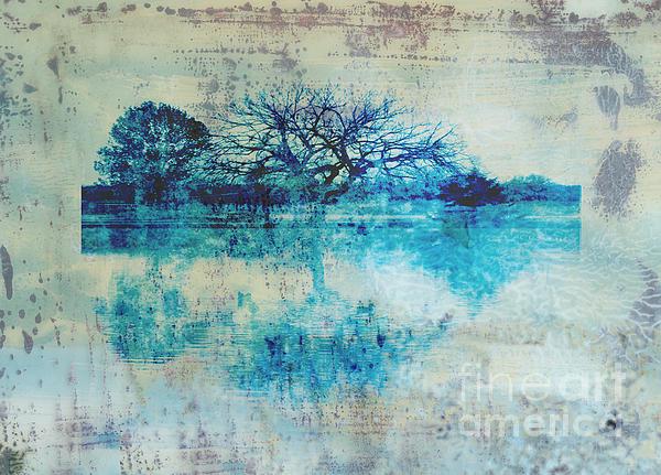 Blue On Blue Print by Ann Powell