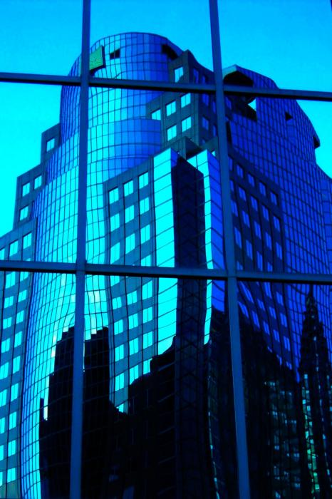 Blue Reflections ... Print by Juergen Weiss