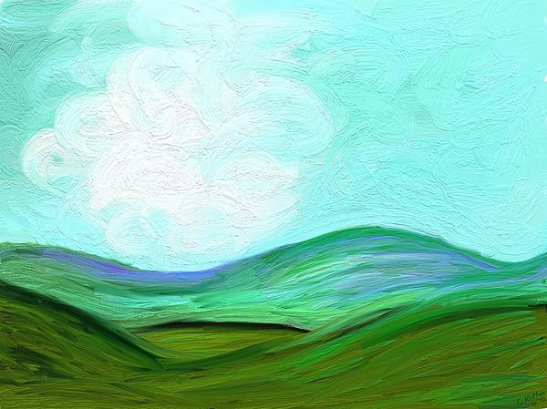 Blue Ridge Print by Connie Kottmann