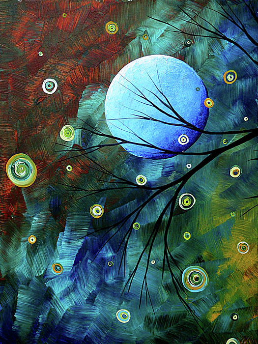 Blue Sapphire 1 By Madart Print by Megan Duncanson