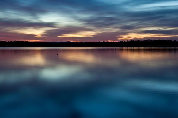 Blue Skies Of Reflection Print by Jonas Wingfield