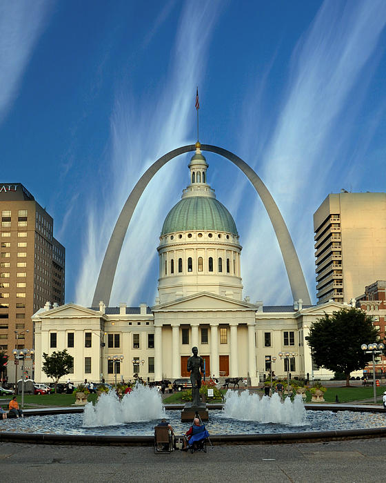 Blue Skies Over St. Louis Print by Marty Koch