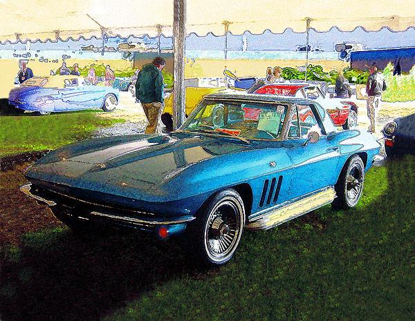 Blue Steel - Chevrolet Corvette Stingray Print by Kenneth Breeze