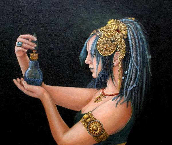 Blue Tribe Print by Enzie Shahmiri