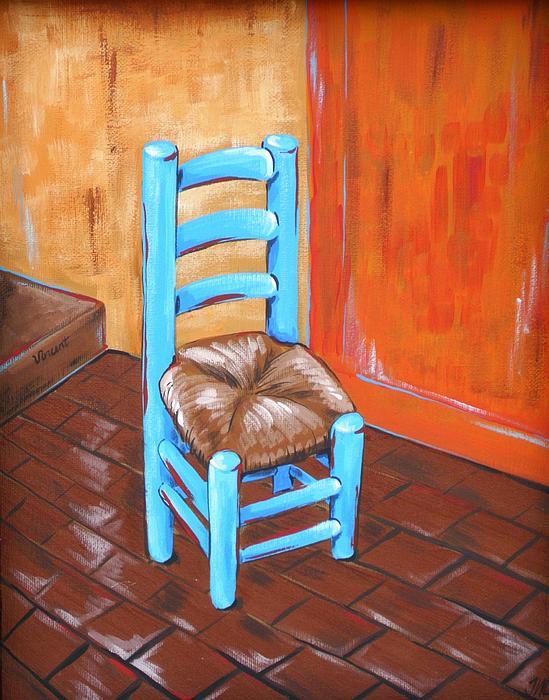 Blue Vincent Print by JW DeBrock