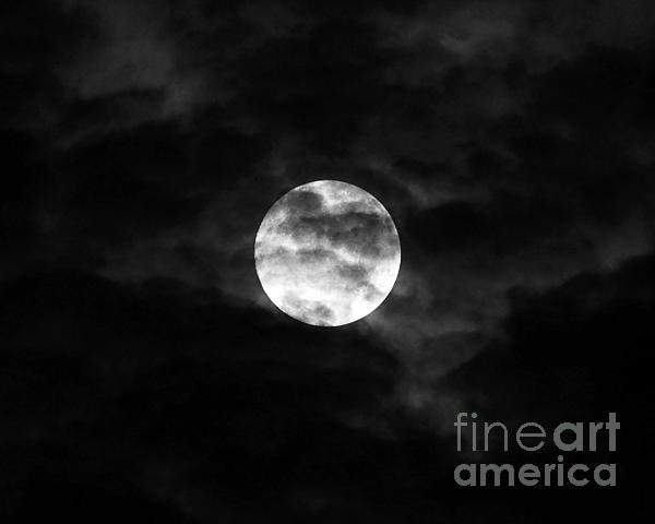 Blustery Blue Moon Print by Al Powell Photography USA