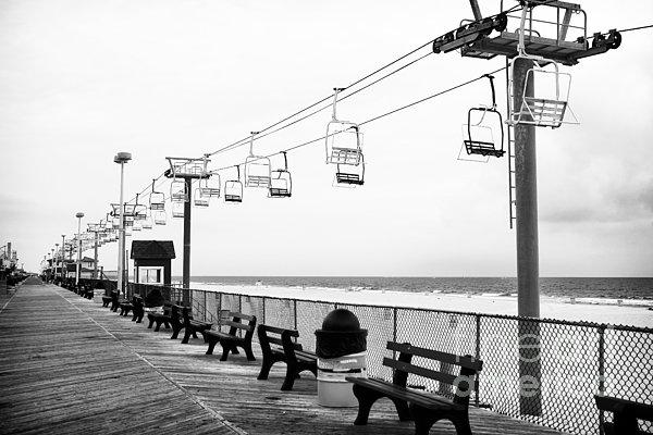 Boardwalk Ride Print by John Rizzuto