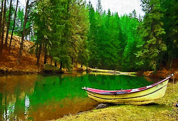 Boat Of The Lake Print by Dale Stillman