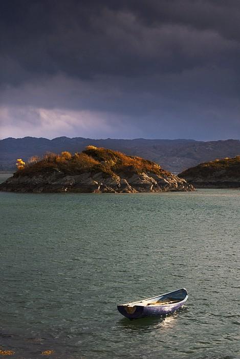 Boat On Loch Sunart, Scotland Print by John Short