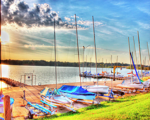 Boats At Lake Decatur Photograph
