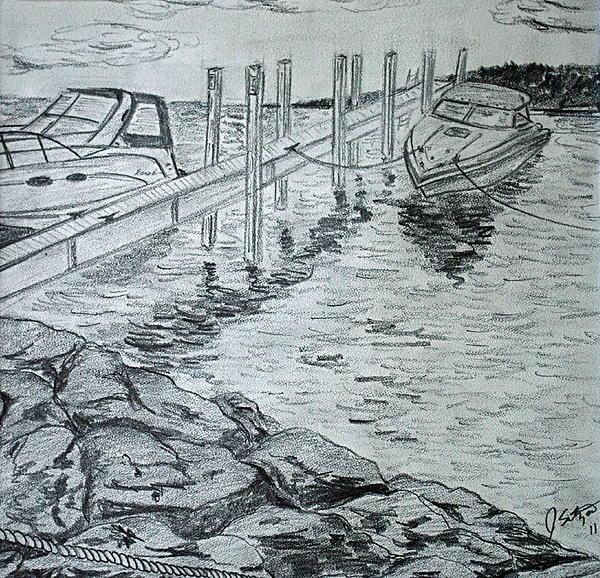 Boats By Mackinac Print by Jason Sotzen