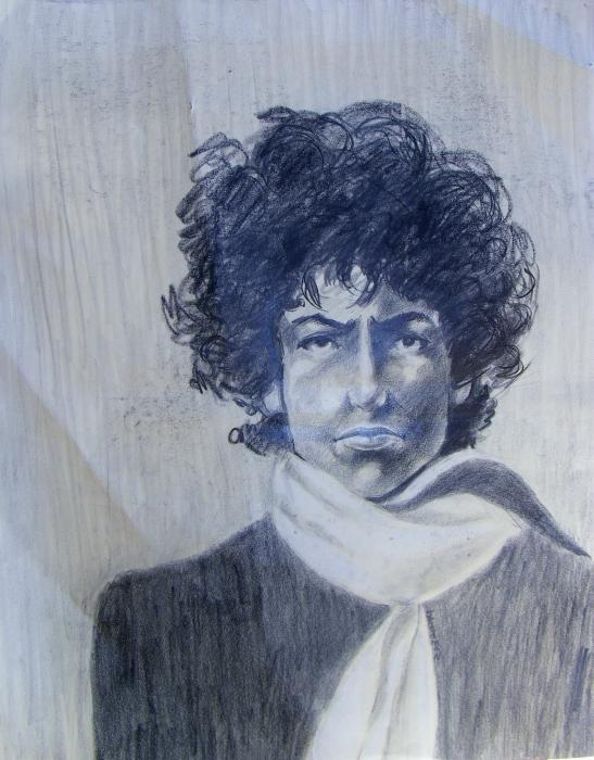 Bob Dylan In The Rock Years Print by Judith Redman
