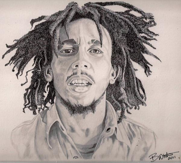 how to draw bob marley face step by step