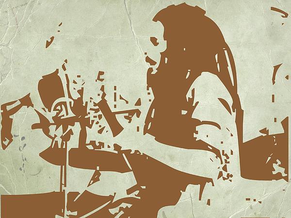 Bob Marley Brown 1 Print by Naxart Studio