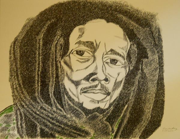 Ron Anthony - Bob Marley Marker Sketch