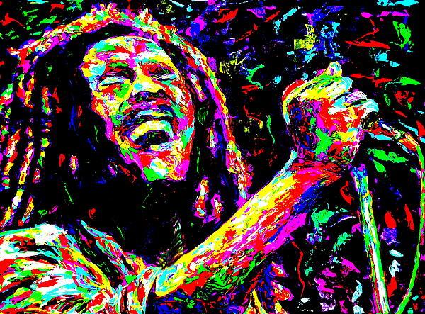 Bob Marley Print by Mike OBrien