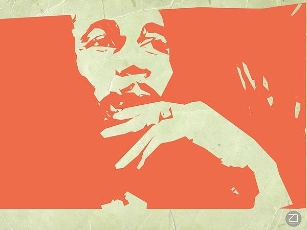 Bob Marley Orange Print by Naxart Studio