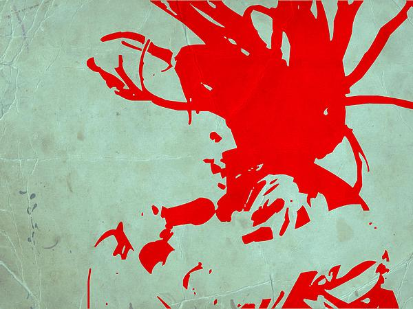 Bob Marley Red Print by Naxart Studio