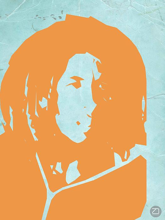 Bob Marley Yellow 2 Print by Naxart Studio