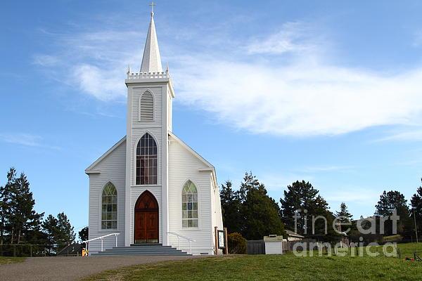 Bodega Catholic Church . Bodega Bay . Town Of Bodega . 7d12437 Print by Wingsdomain Art and Photography