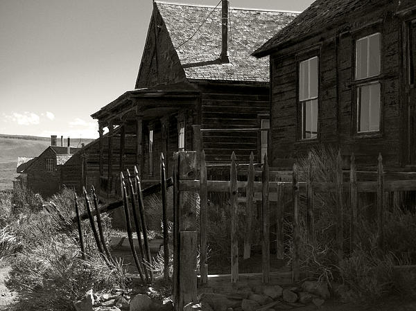 Bodie Cabins 3 Print by Philip Tolok