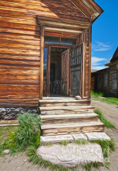 Bodie Ghost Town - Old House 01 Print by Gregory Dyer