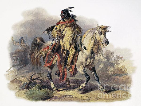Bodmer: Blackfoot Horseman Print by Granger
