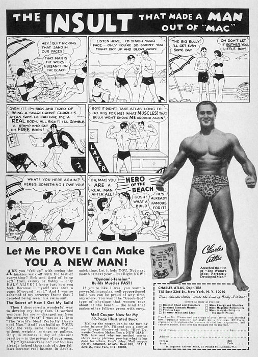 Body-building Ad, 1962 Print by Granger